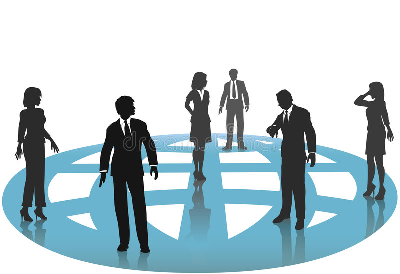 Business People Connections Globe Network vector illustration