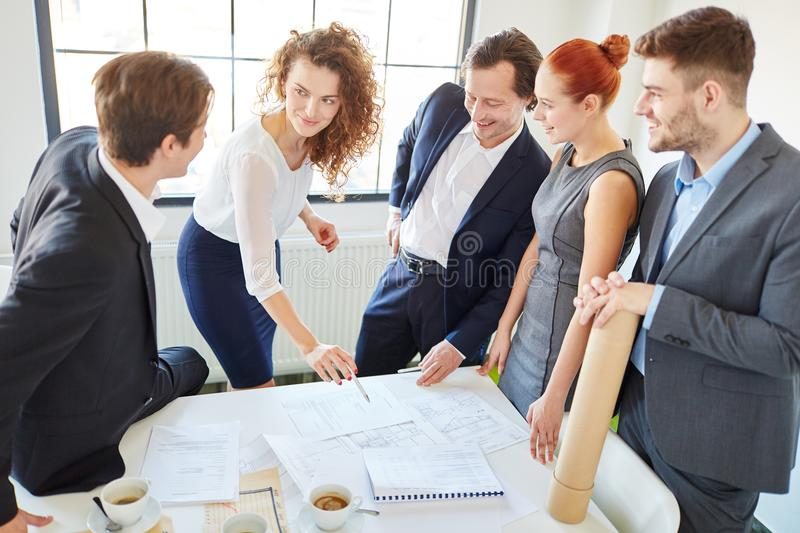Business people in consulting meeting royalty free stock image