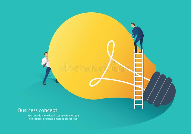 Business people cooperation idea concept vector illustration.  royalty free illustration