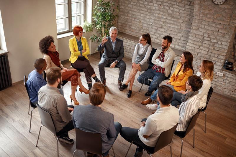 Business people corporate communication meeting office royalty free stock photo