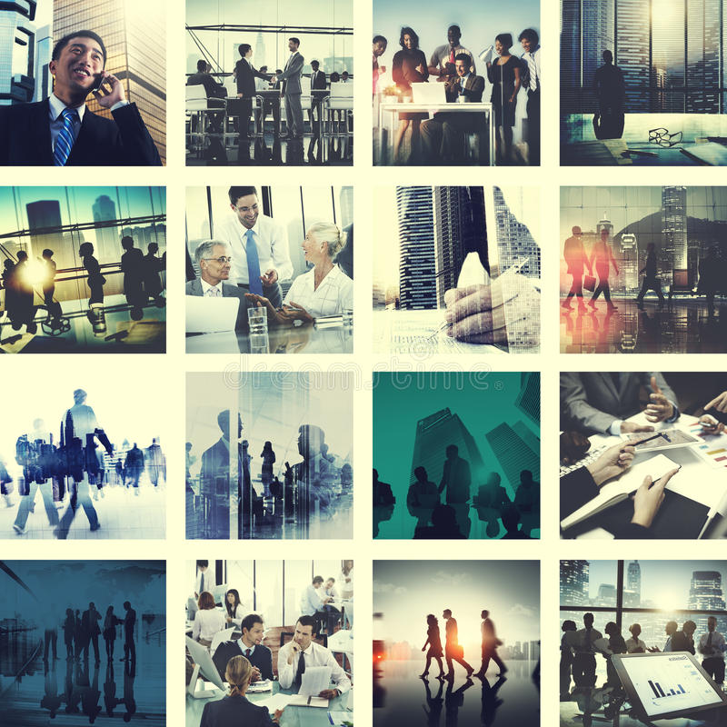 Business People Corporate Connection Greeting Collection Concept royalty free stock photography