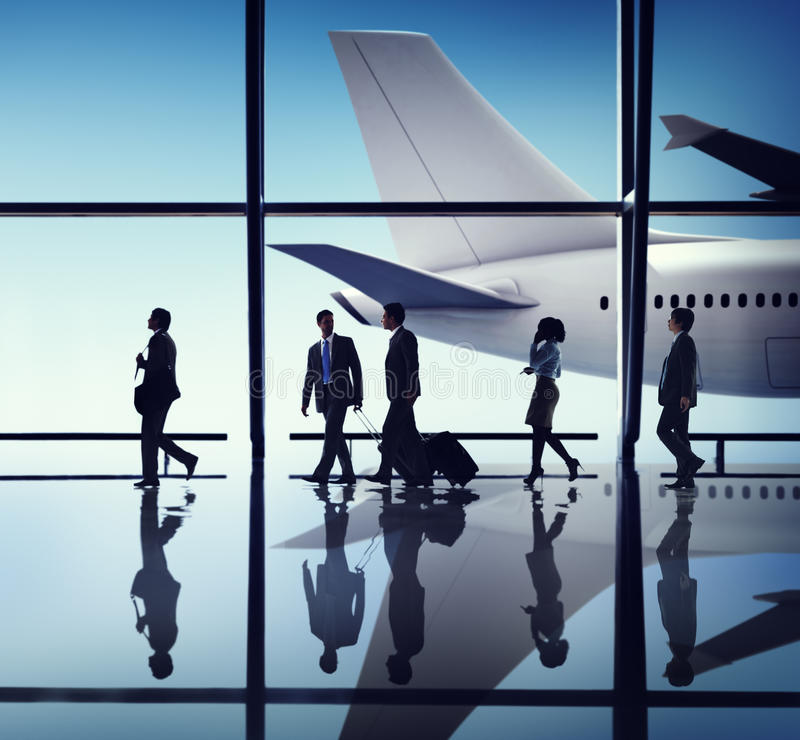 Download Business People Corporate Travel Airport Concepts Stock Image