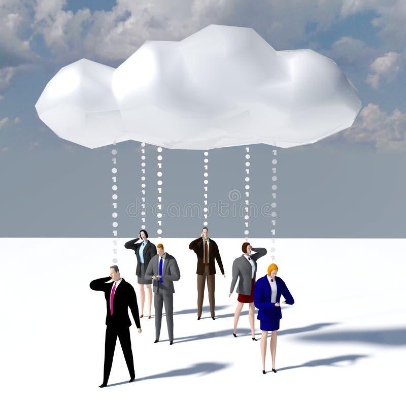 Download Business People Data Cloud Communication Stock Illustration - Illustration of work, collaboration: 118123394