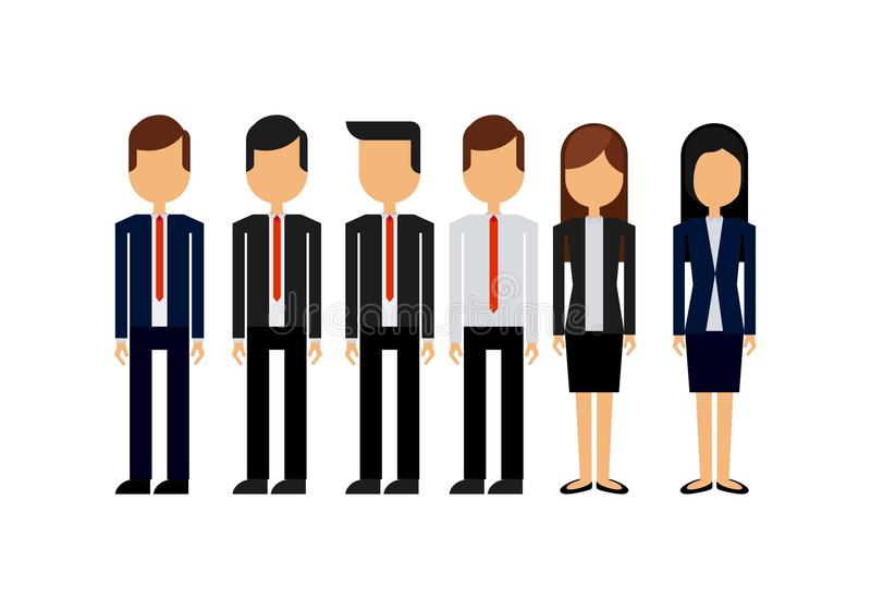 Business people design. Businesspeople wearing executives clothes over white background. colorful design. illustration royalty free illustration