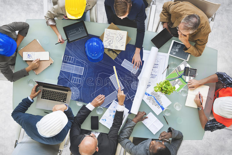 Business People Designers Architects Working Concept stock photos