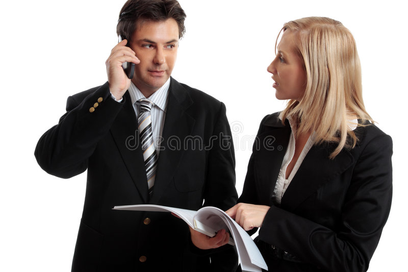 Download Business People Discuss Report Stock Image - Image: 4785109