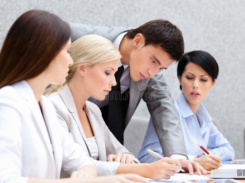 Download Business people discussing stock image. Image of attractive - 26756841