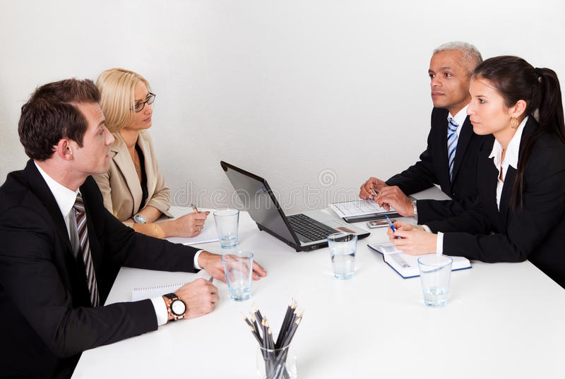 Business people discussing in the meeting royalty free stock photography