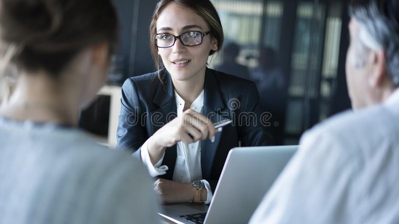 Business people discussion advisor concept. Business people discussion  advisor concept stock images
