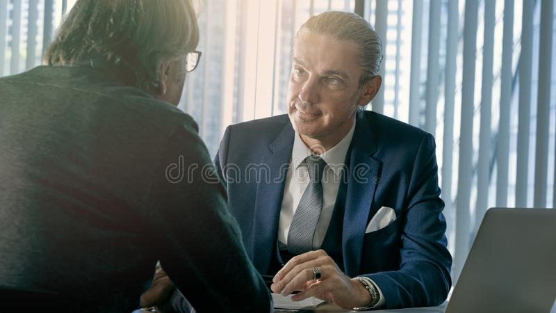 Business people discussion advisor concept royalty free stock photography