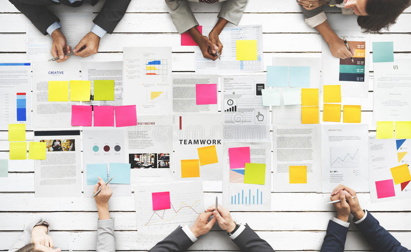 Business People Diverse Brainstorm Meeting Concept stock image