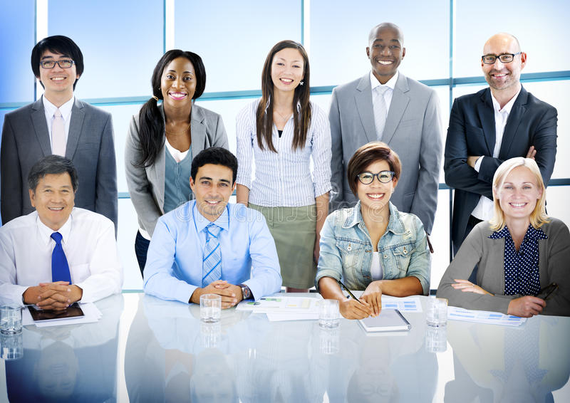 Business People Diversity Team Corporate Professional Concept royalty free stock images
