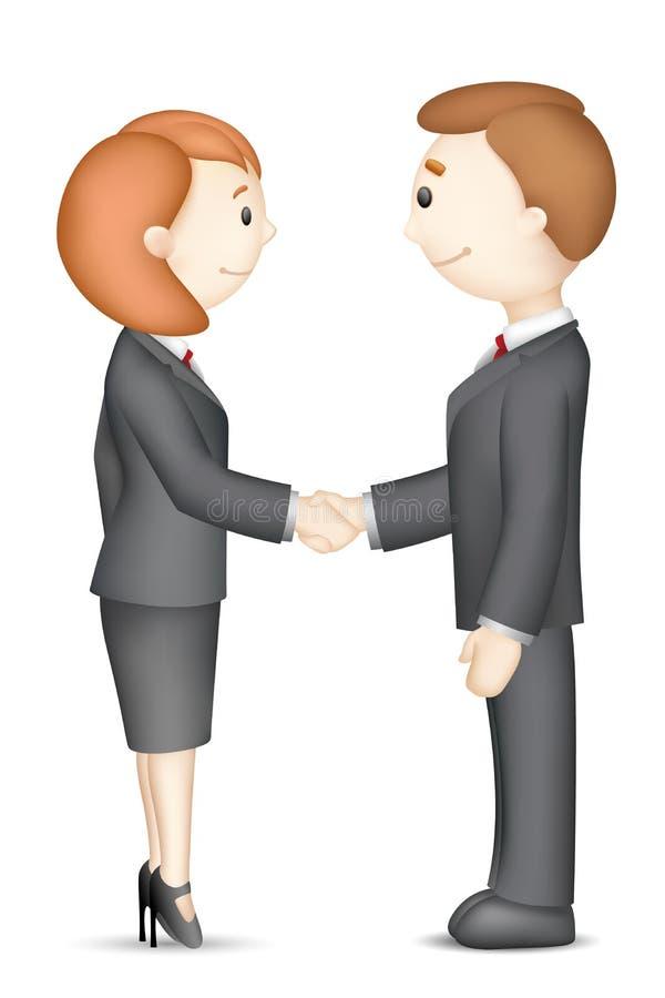Business People doing Handshake vector illustration
