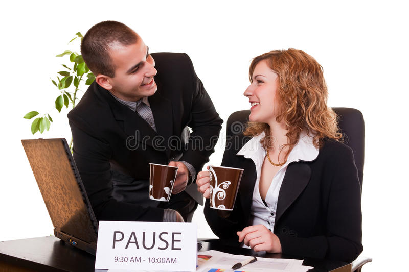 Download Business People Enjoying Coffee-break Stock Photo - Image: 13808228