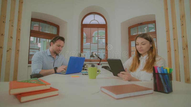 Business people focused on project. stock photos