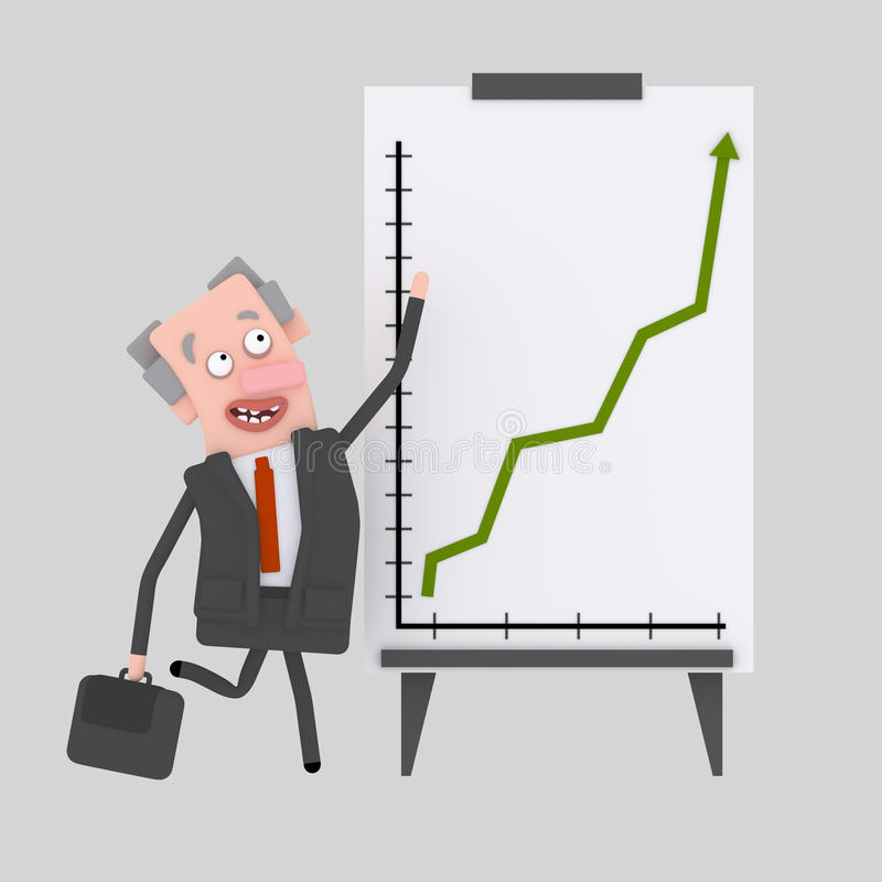 Business people giving a success presentation at white board royalty free illustration