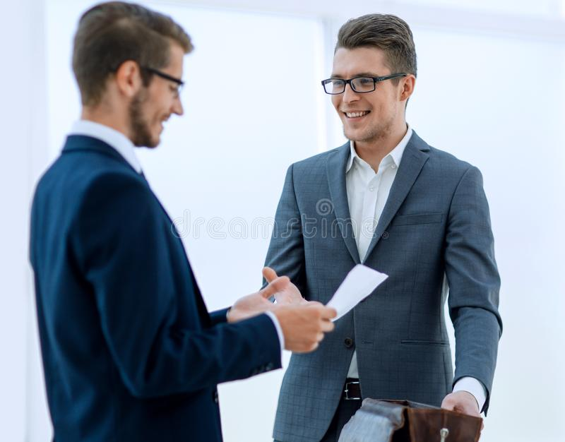 Business people greet each other with a handshake stock photos