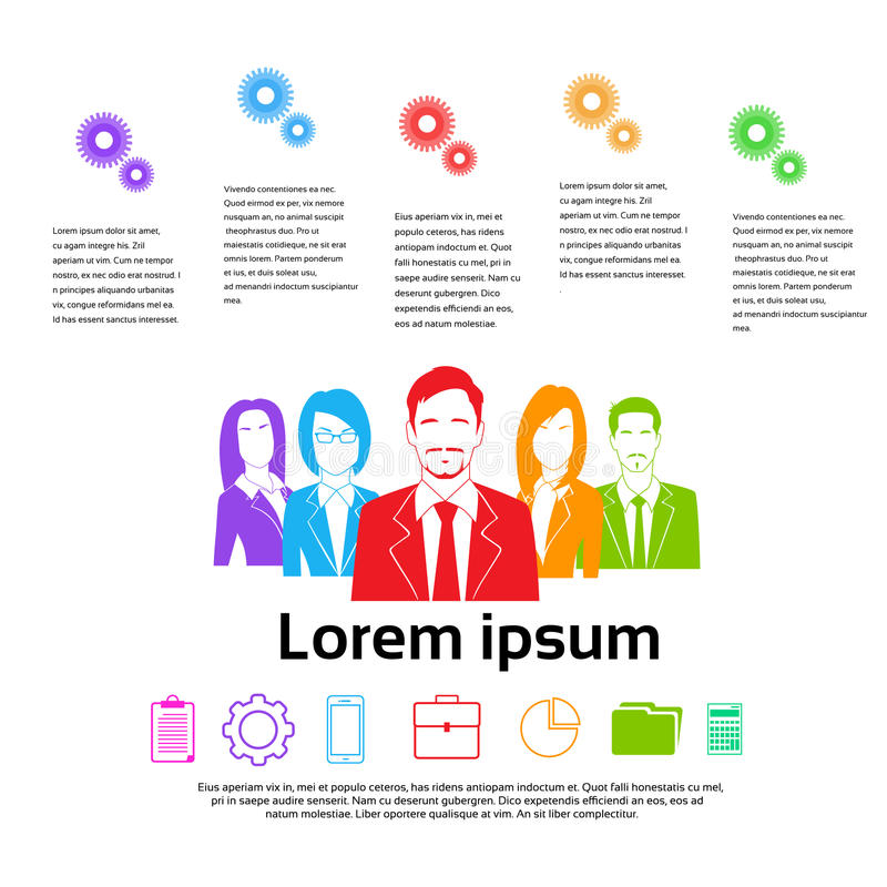 Business People Group Colorful Silhouettes vector illustration