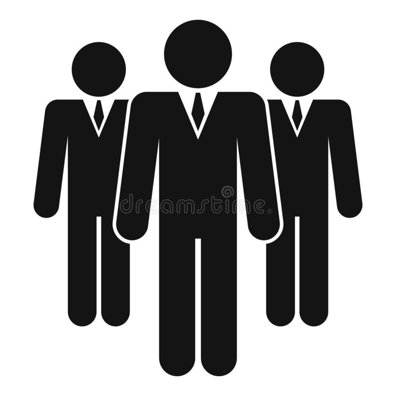 Business people group icon, simple style royalty free illustration
