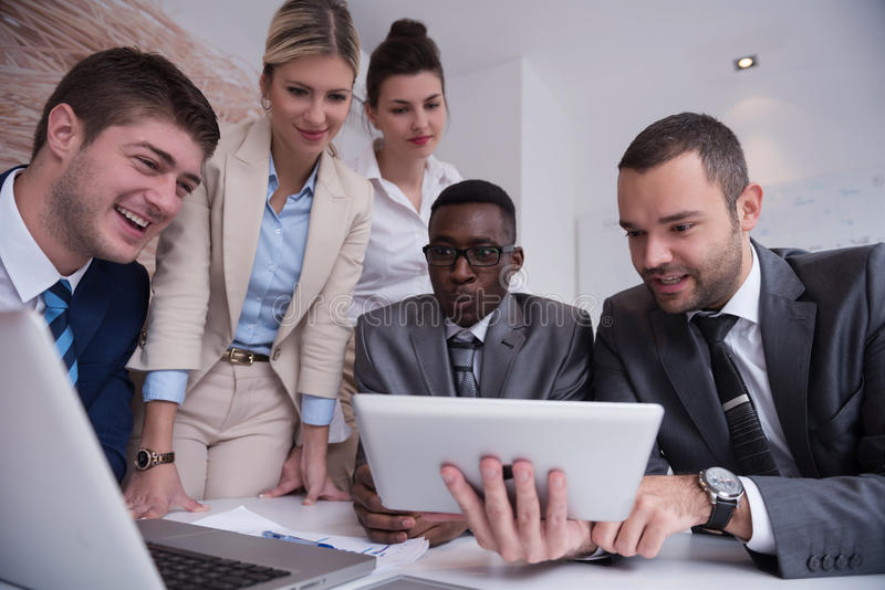 Business people group at office stock images