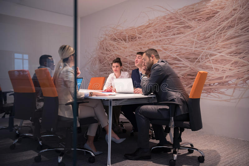Business people group at office stock photo
