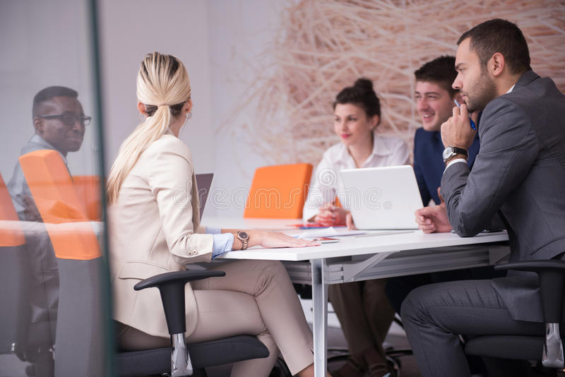 Business people group at office stock image