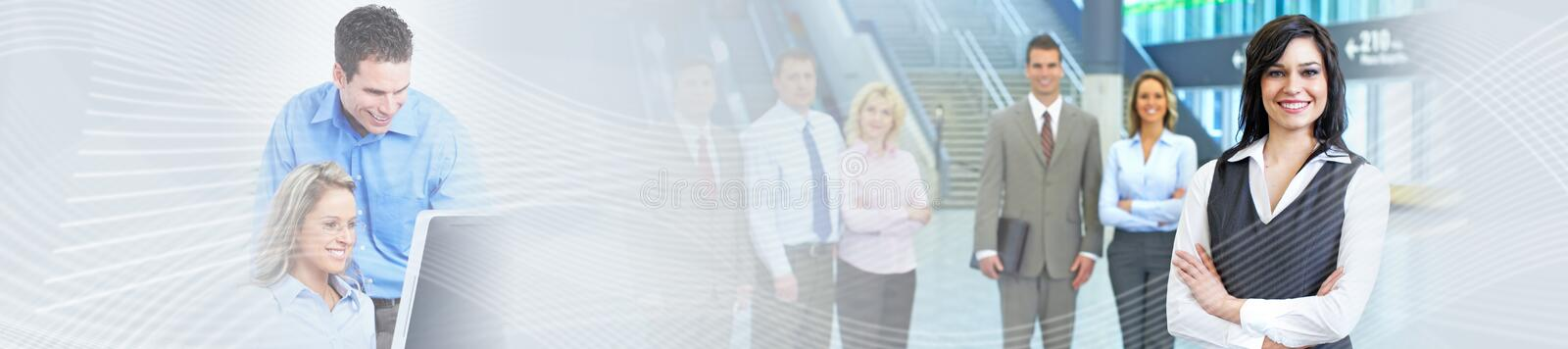Business background. Business people group over abstract financial background stock image
