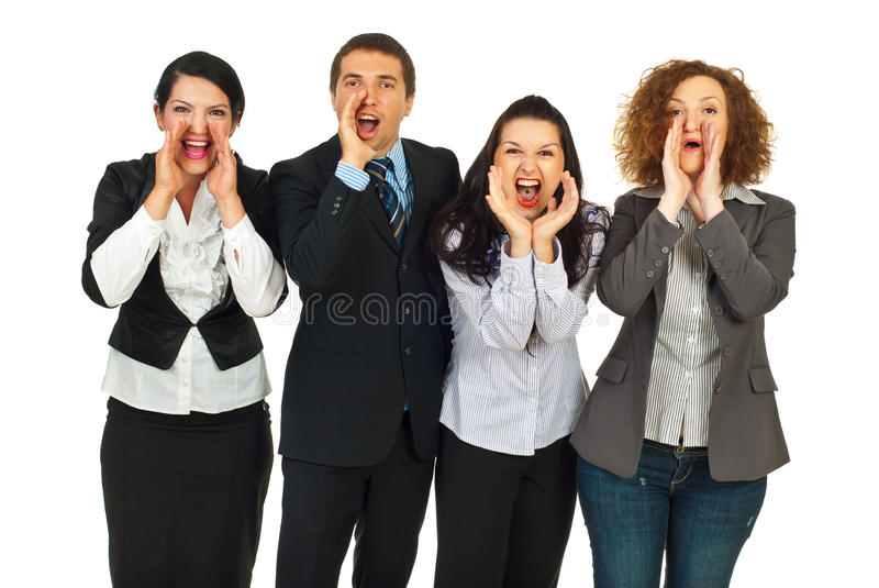 Download Business People Group  Shouting Stock Photo - Image: 20358282
