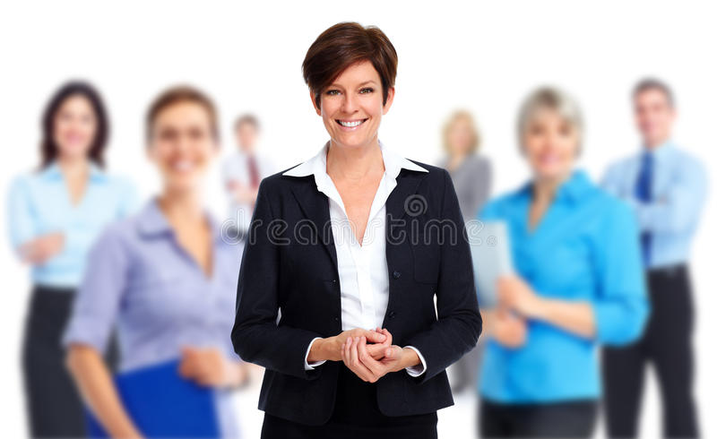 Business people group. Group of business people. Teamwork and success background royalty free stock image
