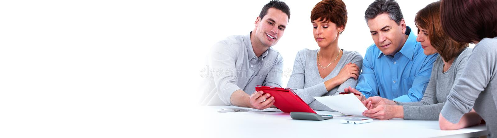 Business team. Business people group working. Financial service concept stock photography