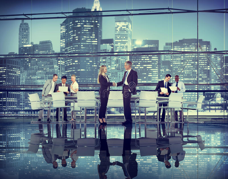 Business People Hand Shake Partnership Teamwork Deal Cooperation royalty free stock image