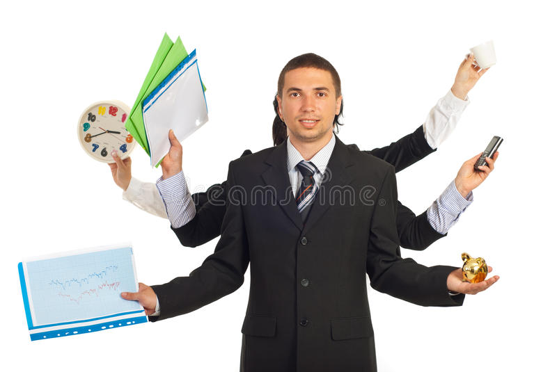 Business people hands holding objects royalty free stock images