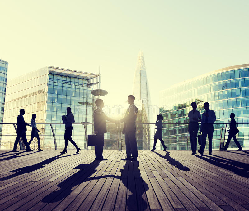 Business People Handshake Greeting Agreement Talking Deal Concept royalty free stock images