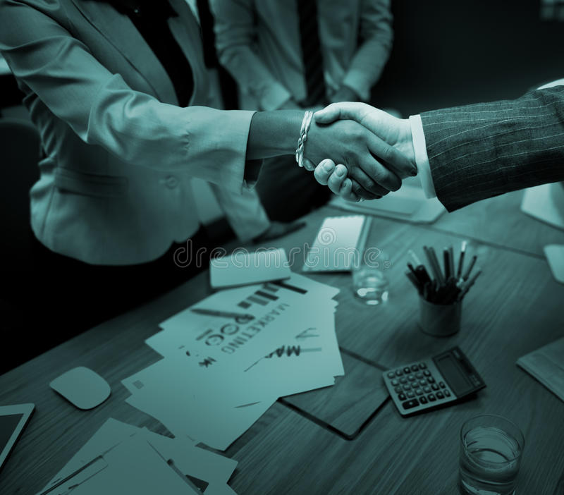 Business People Handshake Greeting Deal Concept royalty free stock photo