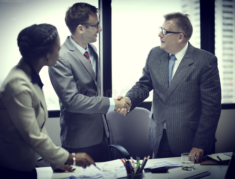 Business People Handshake Greeting Deal Concept stock photography