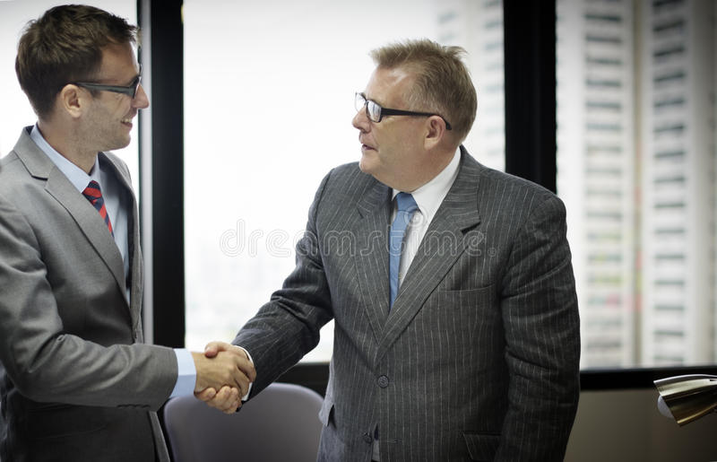Business People Handshake Greeting Deal Concept.  stock photography
