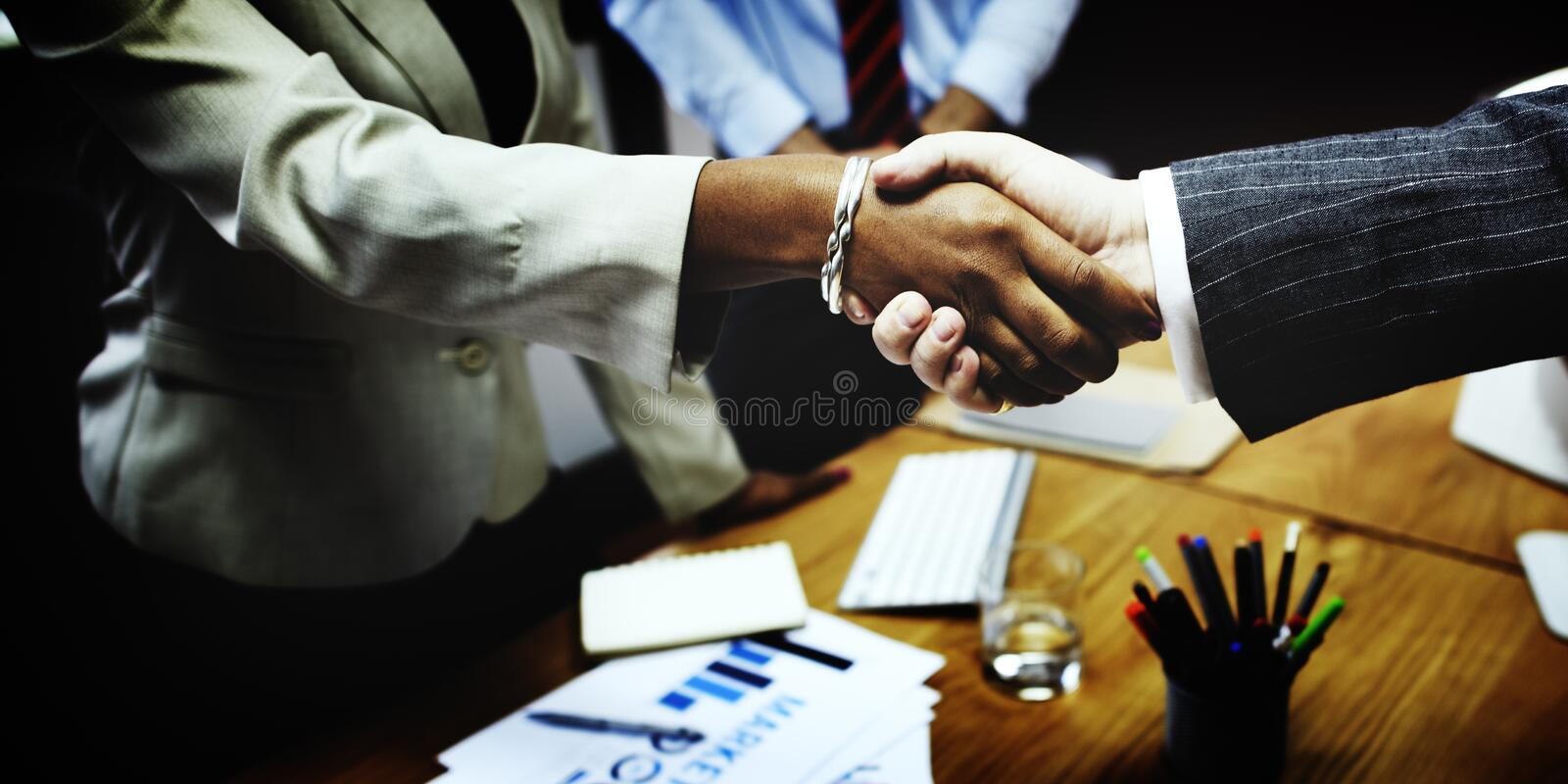 Business People Handshake Greeting Deal Concept royalty free stock photography