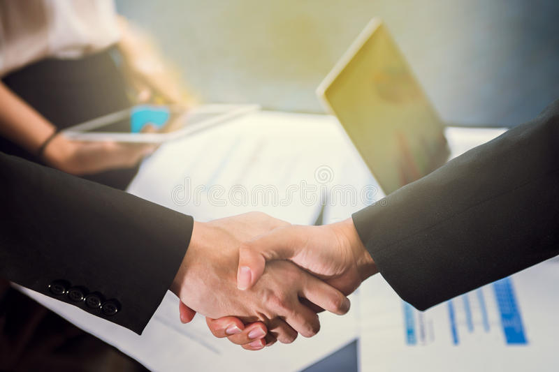 Business People Handshake. Greeting Deal Concept royalty free stock image