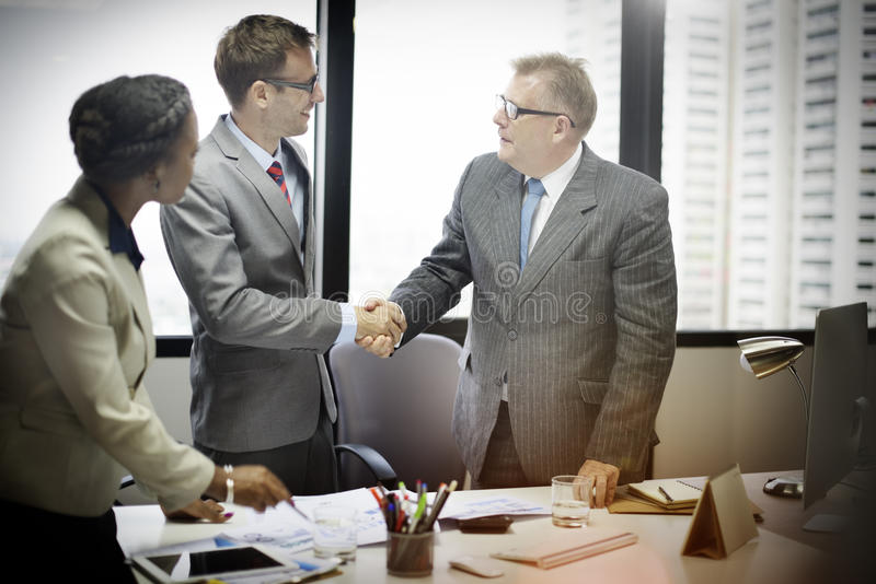 Business People Handshake Greeting Deal Concept stock image