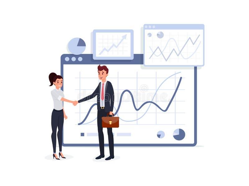 Business people handshake stock illustration