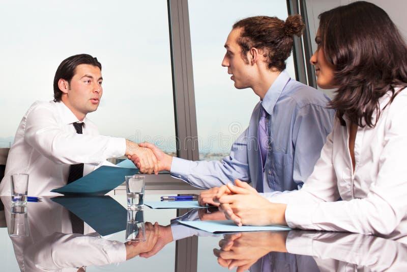 Business people handshake stock image