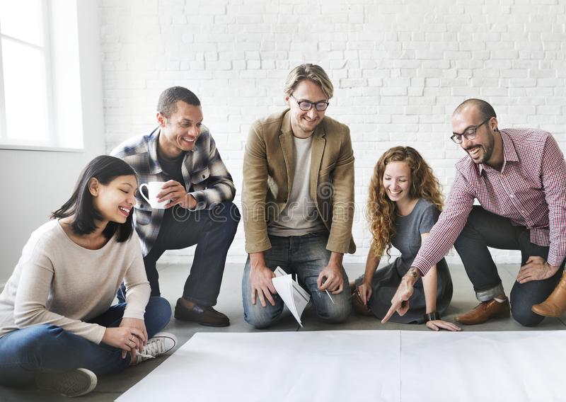 Business people are having a discussion stock photos