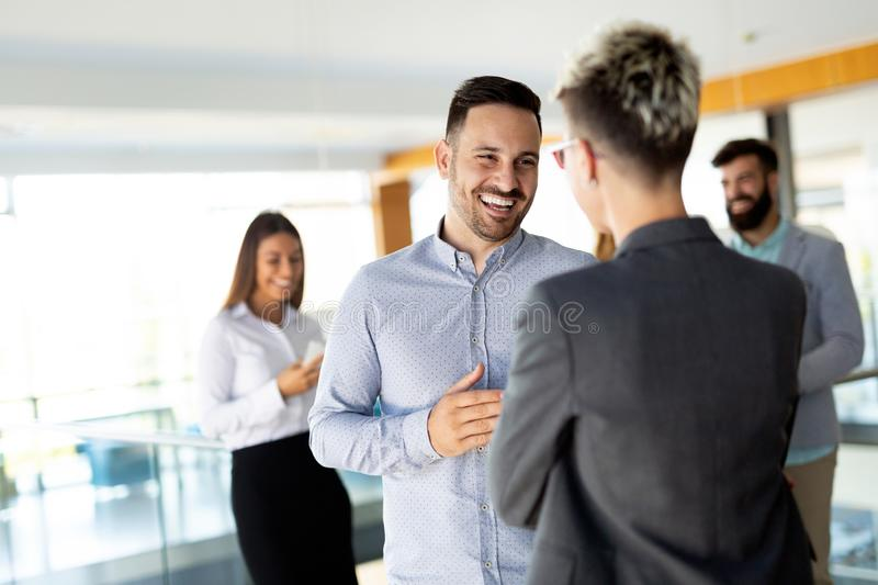 Business people having fun in modern office stock photos