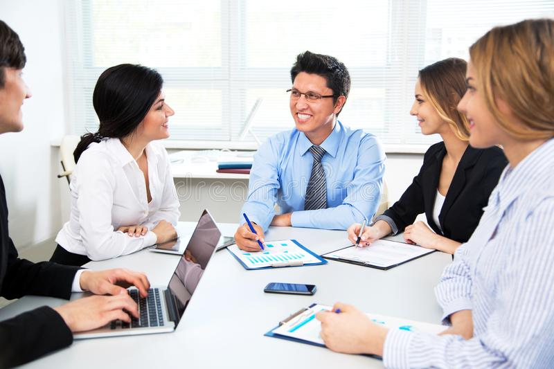 Business people in modern office royalty free stock images
