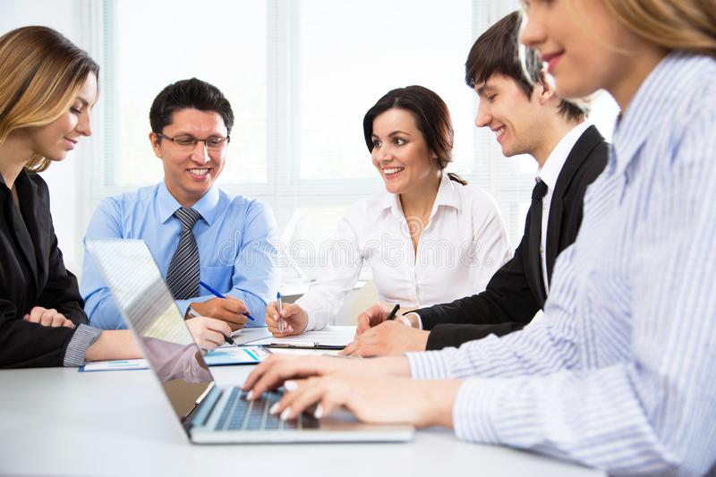 Business people in modern office royalty free stock image