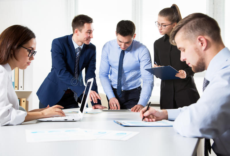 Download Business People Having A Meeting Stock Image - Image of latin, operation: 83705709