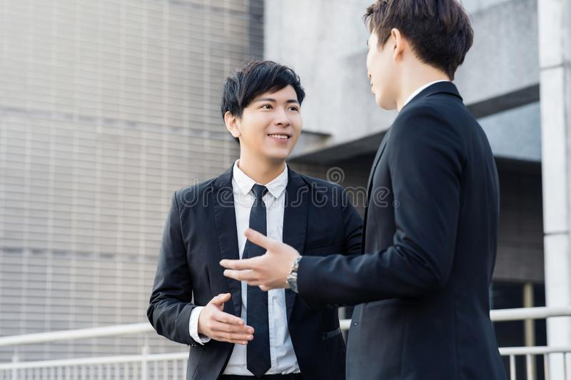 Business people having a meeting in the office building stock images