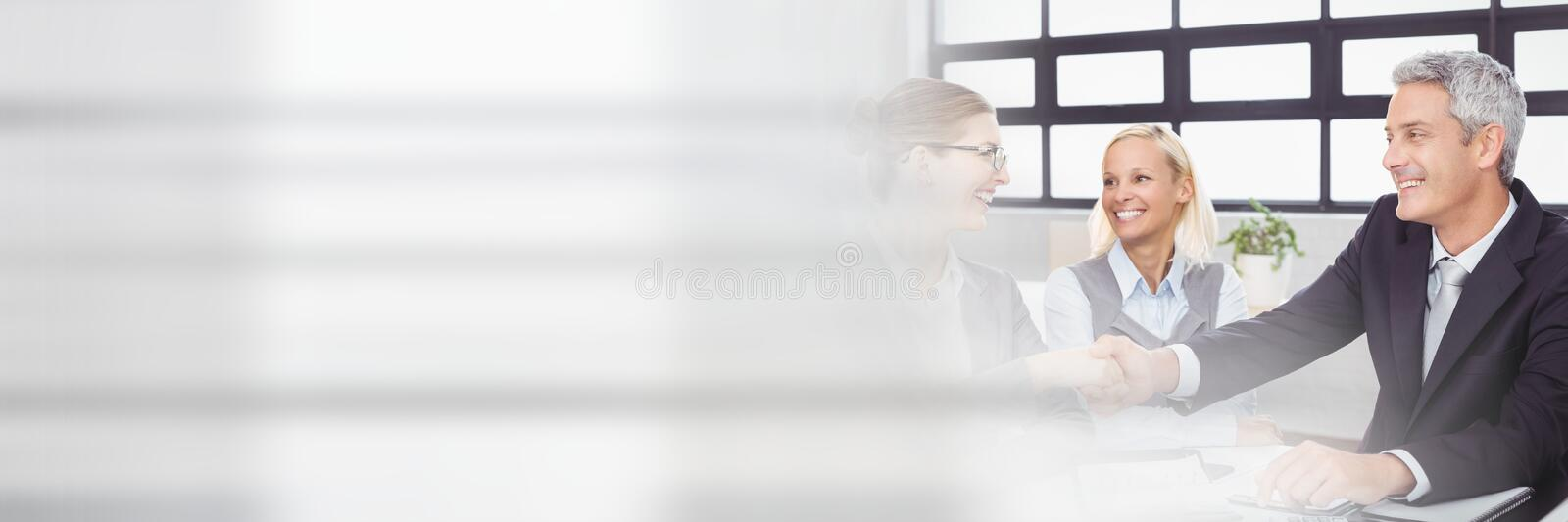 Business people having a meeting with transition effect royalty free stock image