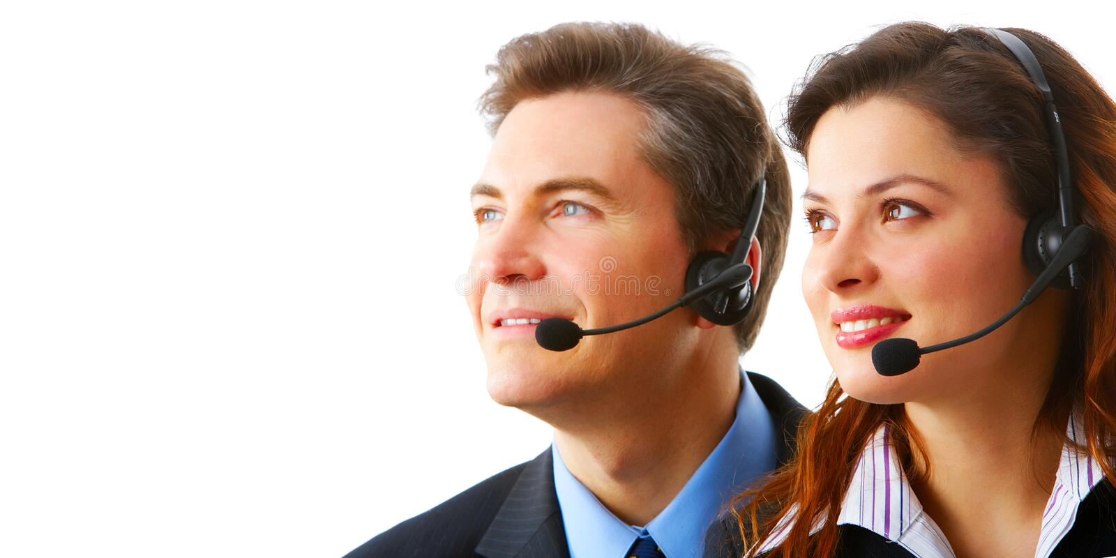 Download Business People With Headsets Stock Photos - Image: 8260743