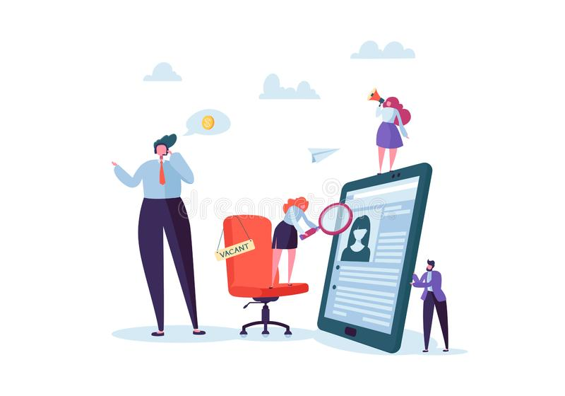 recruitment management characters  best job candidate